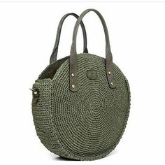 For most ladies, buying a genuine designer bag is not really something to hurry into. Because these handbags can be so expensive, women sometimes worry over their selections before making an actual ladies handbag acquisition. (Re:Womens Barrel Bag.Tussa E Crochet Tote, Crochet Handbags, Crochet Purses, Barrel Bag, Round Bag, Crochet Round, Cute Bags, Knitted Bags, Crochet Accessories