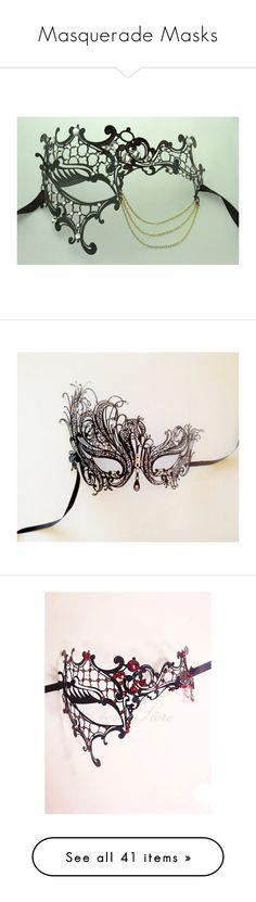"""Masquerade Masks"" by gingerstark ❤ liked on Polyvore featuring masks, masquerade, costumes, masquerade costume, elegant halloween costumes, elegant costumes, masquerade halloween costume, mask, accessories and masquerade mask"