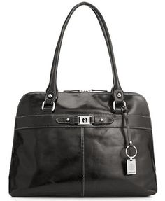 Giani Bernini Handbag, Glazed Leather Dome Tote
