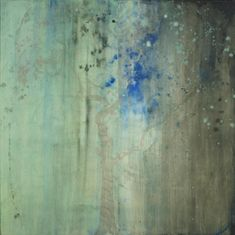 Here's a work by the astonishing Makoto Fujimura.  Many artists have trouble talking or writing about their work, but Mako is a gifted writer as well as a gifted painter.  His blog is worth following.  See  makotofujimura.com.