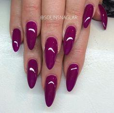 Violet stiletto nails