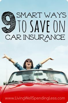 9 Smart Ways to Save on Car Insurance Few of us would ever consider not having insurance, but have you ever stopped to consider whether you might be paying too much to insure your vehicles? Don't miss these 9 smart ways to save on car insurance--it is one Buy Life Insurance Online, Cheap Car Insurance Quotes, Life Insurance Quotes, Car Insurance Tips, Term Life Insurance, Health Insurance, Insurance Humor, Disability Insurance, Insurance Agency