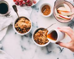 Maple Granola Apple Porridge - Baliboosta