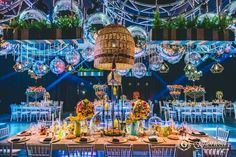 """Espectacular fiesta estilo Bohemio Chic inspirada en """"Rapsodia"""" para los 15 años de Cami Collado, en General Pico, La Pampa by GLORIOSA"""