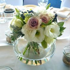 Auckland Wedding Hire offers a wide range of elegant vases and wedding decor for hire Fish Bowl Centerpiece Wedding, Fishbowl Centerpiece, Beach Wedding Centerpieces, White Centerpiece, Wedding Reception Flowers, Flower Centerpieces, Wedding Table, Wedding Bouquets, Wedding Decorations