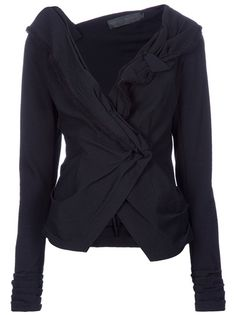 "DONNA KARAN Asymmetric Jacket ""This jacket can go winter, spring, summer, fall. Put it with trousers, a skirt, over a dress. It's glamorous, it's professional. This is the type of jacket you spend a hundred or a thousand dollars on, and it pays for itself."""