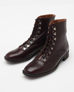 New Kid Shoes - Penny Dreamcore Boot in Burgundy