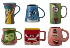 Mugs of P.I.X.A.R.'s INSIDE OUT Characters
