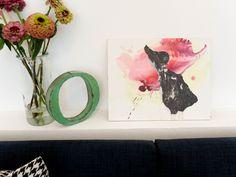 "Encaustic - Collage ""Ente"" Pia Danner"
