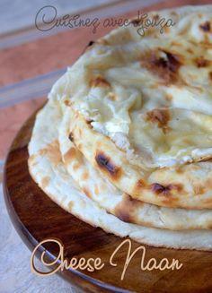 Cheese naan pain indien naan au fromage recette identique que les naans natures, ce pain au fromage de vache qui rit accompagne les plats et recettes indiennes