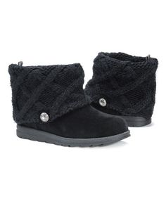 Love this Black Patti Boot - Women by MUK LUKS on #zulily! #zulilyfinds