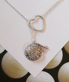 Volleyball / Water Polo Necklace with Rhinestones, Heart and Number, handmade jewelry from MelissaMarieRussell on Etsy. Volleyball Necklace, Play Volleyball, Volleyball Quotes, Volleyball Gifts, Volleyball Players, Volleyball Ideas, Volleyball Cakes, Coaching Volleyball, Volleyball Setter
