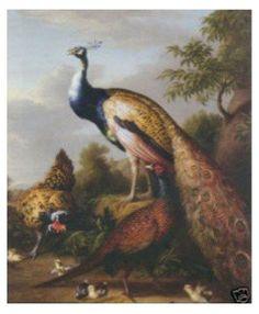 """pinturas a óleo de Repro da arte dos artesanatos: """"O pavão bonito"""" garantiu o transporte livre de 100%"""