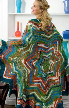 7 Point Star Throw Crochet Pattern