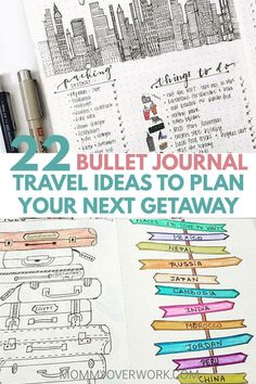 Is your goal to travel? then you'll love these great bullet journal travel log layout ideas and spreads. let me take you on a journey from a bucket list Bullet Journal Travel, Bullet Journal Layout, Travel Journals, Bullet Journals, Journal Covers, Journal Pages, Journal Ideas, Life Journal, Travel Log