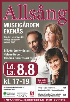 Missa inte allsång på museigården! Välkomna med och sjung! Älä unohda yhteislaulu iltaan EKTAssa! Tule mukaan laulamaan! #EKTAMuseumcenter #Ekenäs #Tammisaari #allsång #yhteyslaulu #museum  #Museo  #sång