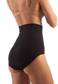 01c030ba7c FarmaCell Shape 601 Black L HighWaisted Shaping Control Briefs with Flat  Belly Effect    Check