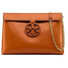 7d810bf8d938 Tory Burch Miller Large Shoulder Bag ($478) ❤ liked on Polyvore featuring  bags, handbags, shoulder bags, aged camello, orange purse, shoulder handbags,  ...