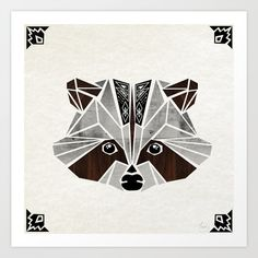 raccoon! Art Print by Manoou | Society6