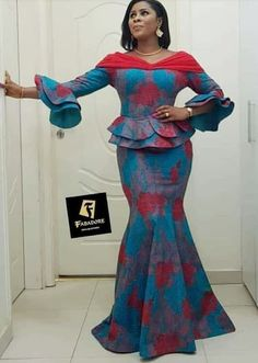 long skirt And Blouse combinations:Check Out 2019 Exotic and Trendy Long Ankara Skirt and Blouse Styles African Maxi Dresses, Ankara Dress Styles, African Fashion Ankara, Latest African Fashion Dresses, African Dresses For Women, Ankara Skirt And Blouse, African Print Fashion, Africa Fashion, African Attire