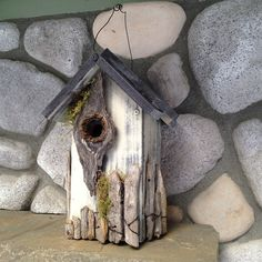 New! 2015 #birdhouses Bird House Rustic Country Cottage with by BirdhousesByMichele