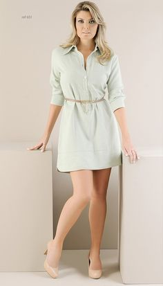 Vestido Camisa Linho   Roupas para uma mulher moderna