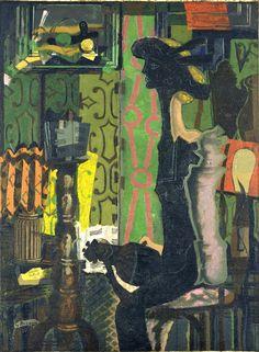 Femme à la Mandoline, 1937, by Georges Braque (French, 1882-1963)