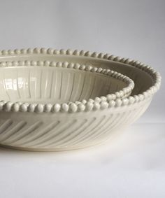 Frances Palmer Low wide bowls No. Five h3w11, No. Eight h4w15