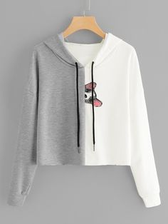 To find out about the Animal Print Hooded Sweatshirt at SHEIN, part of our latest Sweatshirts ready to shop online today! Girls Fashion Clothes, Teen Fashion Outfits, Woman Outfits, Girl Fashion, Clothes For Women, Woman Clothing, Crop Top Outfits, Cute Casual Outfits, Teen Fashion