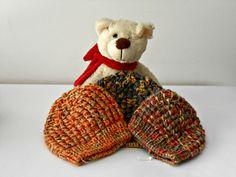 Berretto baby unisex, in filato bambù. Cappellino per bimbi, lavorato a maglia. Cuffietta neonato lavorata a mano ai ferri, by cosediisa on Etsy