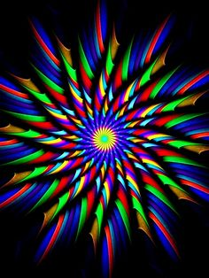 Fractal pinwheel rainbow... MIX COLOR SMALL STRIPE ROLL AND OPEN