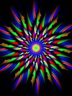 Fractal pinwheel rainbow
