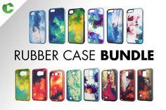 Rubber Case Bundle PSD Mockup Template New Mockup Design Iphone 5c, Mockup Design, Equipement Football, Bag Mockup, Shirt Mockup, Mockup Generator, How To Make Logo, Bottle Mockup, No Photoshop