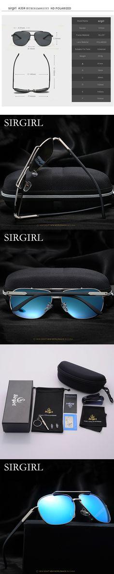 345958d6f2 Men Women Brand Sunglasses HD Polarized Sunglasses Classic Sun glasses  UV400 male driving eyewear Aviation Oculos