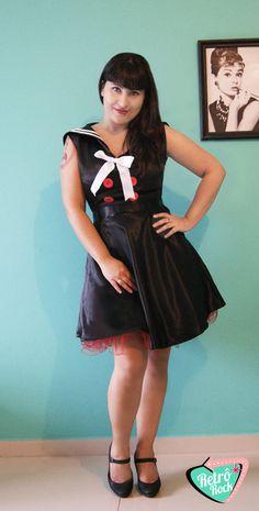 .Estilo Retrô Rock. #sailor #navy #dress