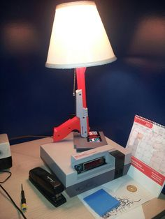 Alarm clock and desk lamp, Nintendo style!