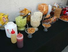 Snack Bar We rent all the vases Mexican Candy Table, Mexican Snacks, Mexican Fiesta Party, Fiesta Theme Party, Mexican Food Recipes, Mexican Theme Baby Shower, Mexican Birthday Parties, Snacks Für Party, Party Ideas