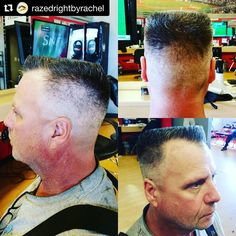 #Ladybarber Sunday  Repost @razedrightbyrachel with @repostapp ・・・ Client: Can you do flat tops? Me: To be completely honest, I've only ever done 2. Client: Well, I guess you need the practice.  Pretty sure my face turned pale. I can't tell you how much I HATE flat tops, but I'm okay now because I think I dominated it!! #flattop #barber #haircut #menscut #sportclips #sportclipsstylists #outdated @scrivertonherriman