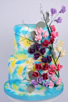 Sugar Sweet Peas  - Cake by Cakes For Show