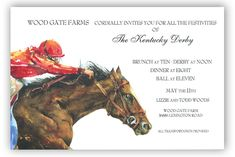 Horse Power Invitation #Kentucky #Derby