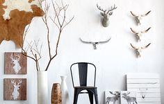 Têtes d'animaux décoratives: décorations murales rustiques| Bouclair.com