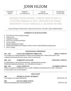 CleanNeat  Resume Templates    Template Professional