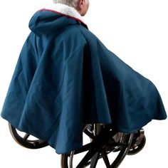 Navy Warm Winter Wheelchair Poncho with Sherpa Fleece Lining Fleece Poncho, Wheelchair Accessories, Cape Pattern, Polar Fleece, Wearing Black, Clothing Patterns, Cute Outfits, Warm, Baths