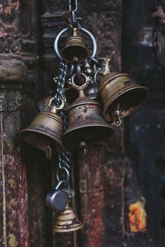 Bells on a hindu temple in Kathmandu, Nepal. by nepal | Stocksy United