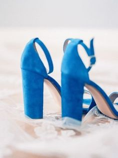 Something blue wedding shoes - blue heels for bride {Theresa Elizabeth Photography}