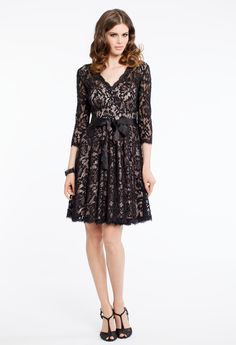 LACE 3/4 SLEEVE DRES