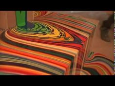 """This is awesome! Check out works by Holton Rower. Designboom wrote : """"In his ' Pour ' series, New York multimedia. Coffee Cup Art, Color Collage, Drip Painting, Teaching Art, Art Techniques, Artist At Work, Art Education, Sculpture Art, Sculptures"""