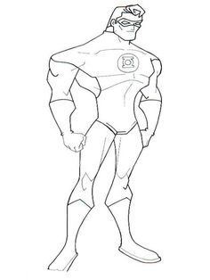 Download Green Lantern Coloring Pages For Kids
