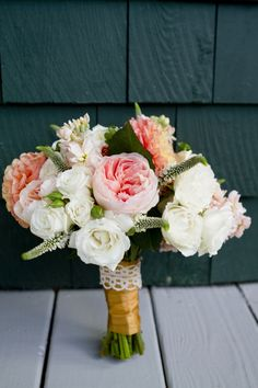 Modern Elegant Peach and Navy Maine Wedding
