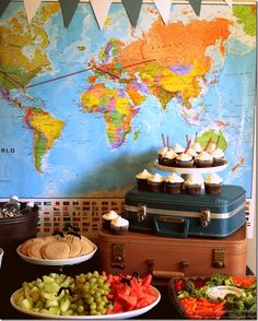 """International Super Secret Agent birthday party with a side of """"birthday party healthy food."""""""